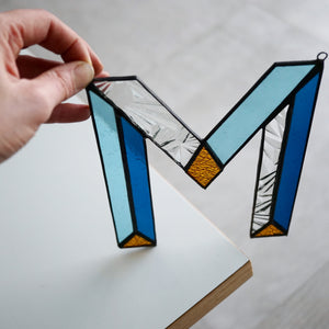 Letters in Glas - Blauw