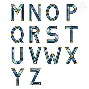 Letters In Glas - Blauw - Letters