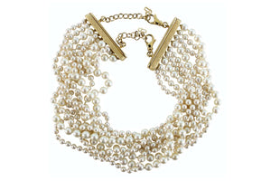 CHRISTIAN DIOR multi strand pearl necklace