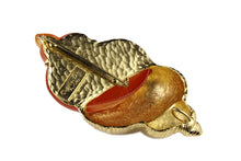 CHRISTIAN DIOR Large Shell Brooch Pendant