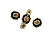CHRISTIAN DIOR brooch and earrings set