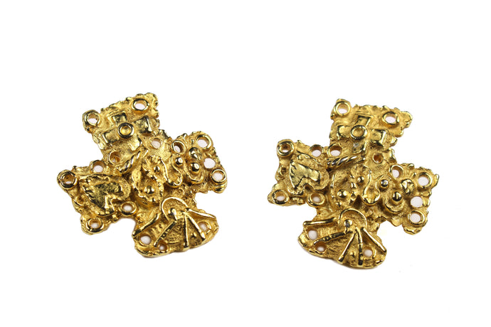 CHRISTIAN LACROIX cross earrings