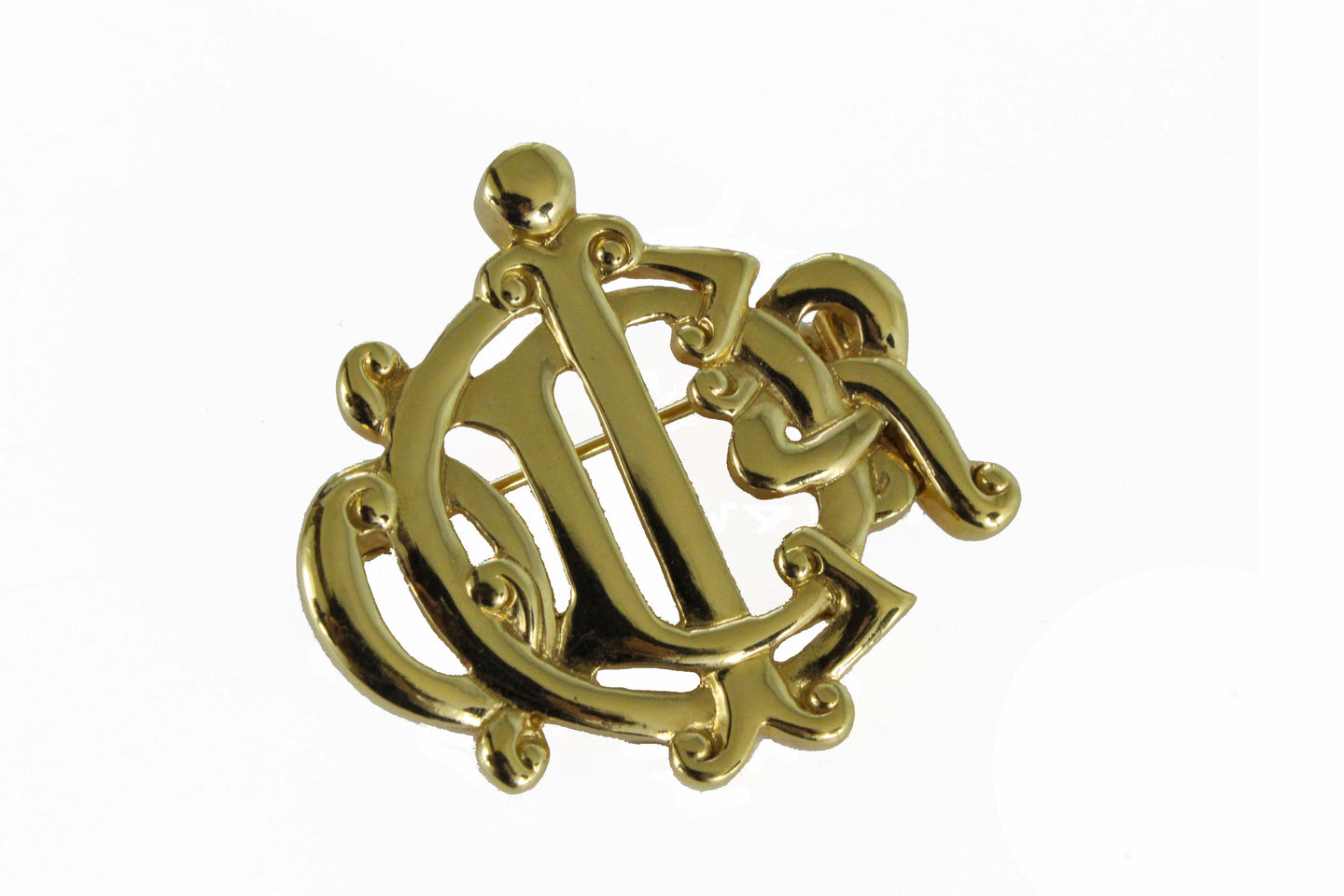 CHRISTIAN DIOR small Logo brooch