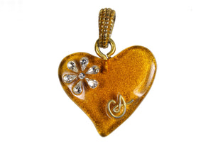 CHRISTIAN LACROIX resin heart pendant