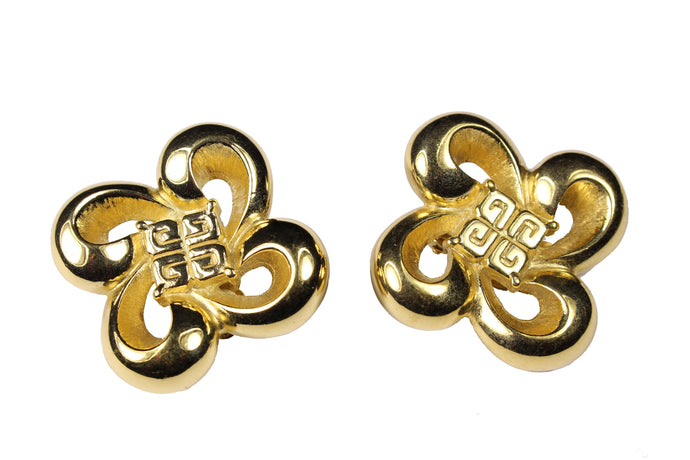 GIVENCHY flower logo earrings