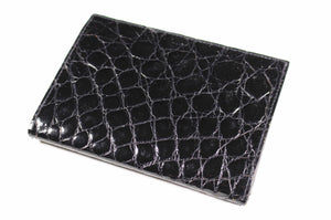 ARIES black crocodile skin wallet