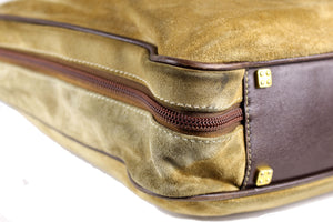 LOEWE Amazona gold suede travel bag