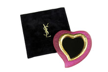 YVES SAINT LAURENT pink heart pocket mirror