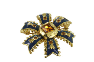 YVES SAINT LAURENT flower pendant brooch