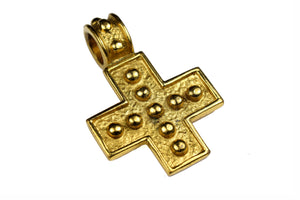YVES SAINT LAURENT cross pendant necklace