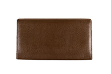 LOUIS VUITTON Long brown Taïga leather wallet