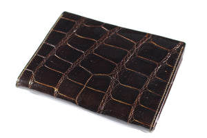 ARIES brown crocodile skin wallet