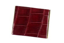 Cognac crocodile skin cigarette case