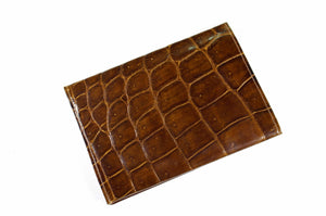 Tobacco crocodile skin wallet