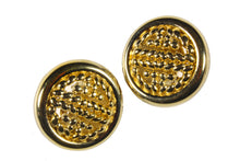 GIVENCHY circular button earrings