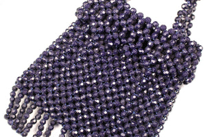 Dark blue faceted beads bag