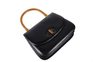 GUCCI leather and bakelite top handle bag