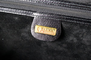 GUCCI black leather briefcase bag