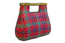RODO multicolor wicker bag with metal handle