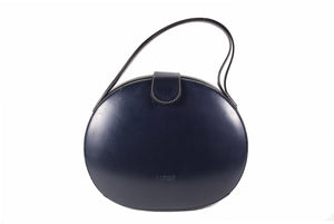 LOEWE Plaza dark blue leather bag