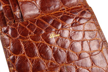 LOEWE brown crocodile skin wallet