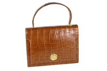 MAGDA butterscotch-color crocodile skin handbag