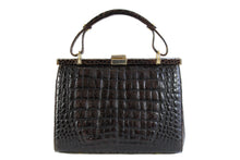 SINGAPUR brown crocodile skin handbag