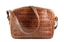LOEWE crocodile skin handbag in light brown