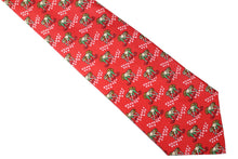 HERMÈS rice planter red silk tie
