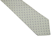 HERMÈS salmon light green silk tie