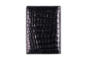 Black crocodile skin wallet