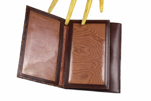 Brown crocodile skin wallet