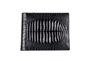 Double back baby crocodile skin wallet