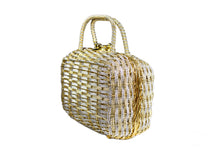 KORET woven golden and silver metal handbag