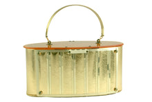 GOLDSTROM gold and lucite handbag
