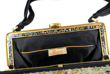 LOEWE petit point purse with enamel embellished frame