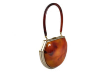 Lucite vanity purse tortoiseshell finish