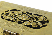Gold filigree metal vanity purse