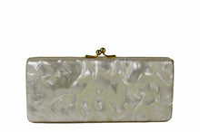 Marbre white vanity purse cluth