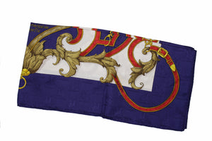 "HERMÈS scarf ""L'intruction du Roy"" by Henri d'Origny"