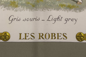 "HERMÈS scarf ""Les Robes"" by Philippe Ledoux"