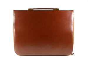 LOEWE brown leather briefcase
