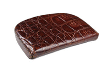 Brown crocodile skin change purse