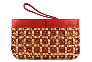 D&G, DOLCE & GABBANA golden rings red handbag