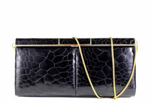 Black turtle skin clutch