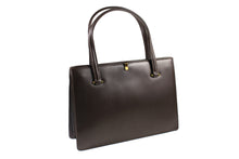 COMTESSE brown leather frame handbag