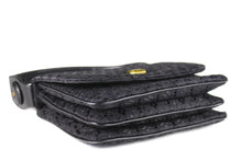 LOEWE black embroidered handbag