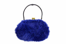 MORRIS MOSKOWITZ blue fur purse