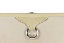 LOEWE beige leather clutch