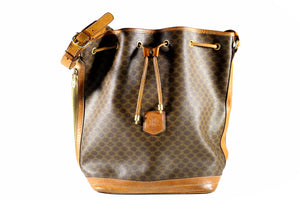 CELINE brown macadam monogram canvas handbag